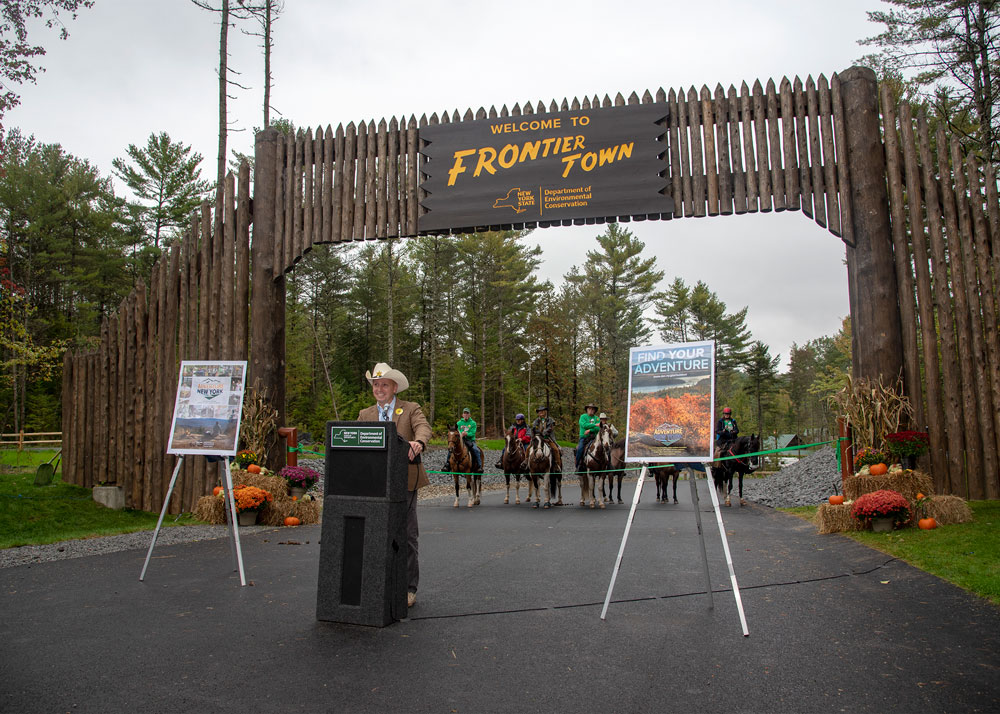 Frontier Town - North Hudson, NY - ribbon cutting